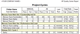 Project Cycles Report